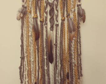 Boho Texture Earthen Wall Hanging