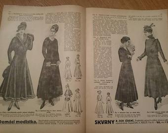 Vintage Bazar Fashion Magazine 1916. Edwardian, Scrapbooking, Ephemera, Art, Decoupage. (No. 8)