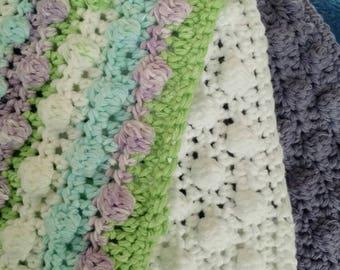 Crochet Swiffer covers in purple, white, green, and sky blue tones, swiffer duster, swiffer mop, reusable Swiffer pad,  Swiffer sweeper