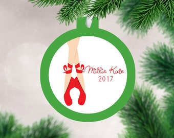 Ballerina Christmas Ornament - Personalized Christmas Ornament - Dancer Name Ornament - Ballet Christmas Ornament - Mad For Monograms