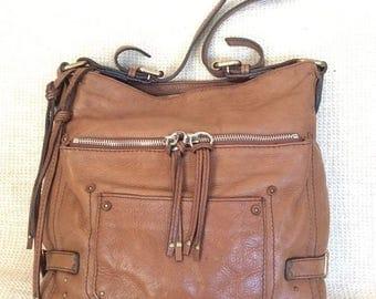 15% SUMMER SALE Vintage Chloe strong tan leather hobo shoulder bag purse