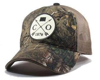 Homeland Tees Colorado Arrow Hat - Realtree Camo Trucker