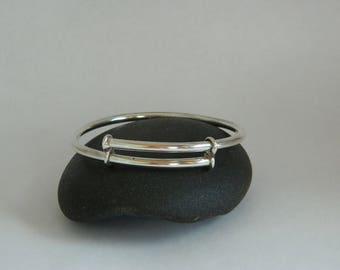 Sterling Silver Bangle, Handmade Jewellery, Sterling Silver Adjustable Bangle, Silver Bangle