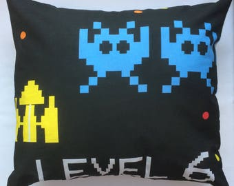 Retro Computer Game Fabric Cushion Covers - handmade by Alien Couture