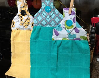 Kitchen Dish Towel, Kitchen Hand Towel, Kitchen Towel, Dish Drying Towel, Yellow Dish Towel, Blue Dish Towel