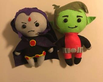 Raven and Beast Felt Dolls