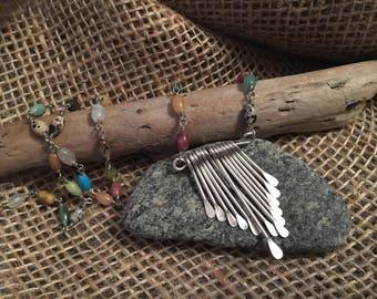 Windchime Beaded Dangle Focal Necklace