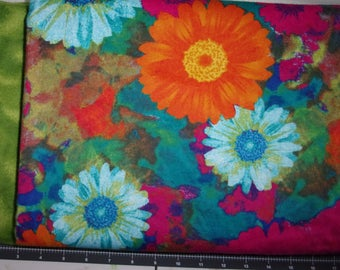 Flannel Fabric, Bright Bold Floral Print, 100% Cotton,...Quilts, Rag Quilts, Clothing, Crafts