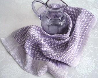Lavender Lace Weave Tea Towel