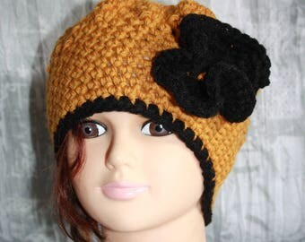 black and mustard, hat hook, very warm