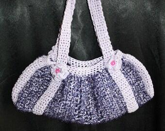 rectangular crochet shoulder bag