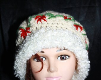 pure wool and fancy fur 2 wire Hat