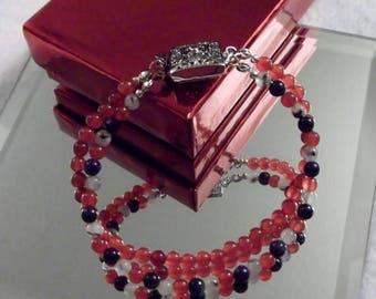 CLEARANCE Jade and Lapis Gemstones 2-Strand, 7-1/2-inch/19 cm Bracelet