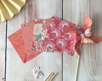 paper pinwheels kit - oriental theme wedding party