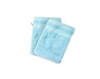 Cotton washcloth towel blue