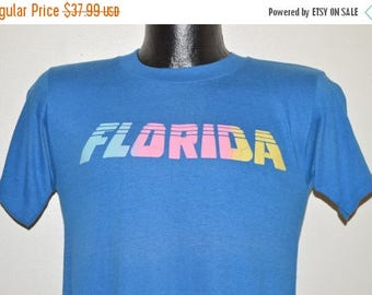 ON SALE 80s Pastel Florida t-shirt Small