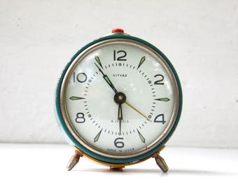 Vintage Mechanical Alarm Clock - VITYAZ - Made in USSR