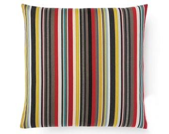 Maharam Paul Smith Ottoman Stripe Brass pillow cover, Stripes pillow cover, modern pillow covers, multicolor pillow covers, designer pillow