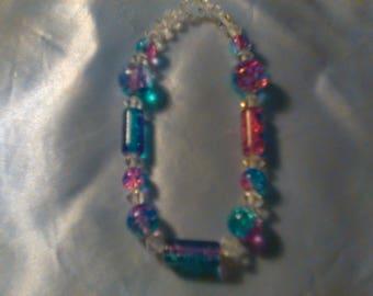 Shiny tye-dye bracelet