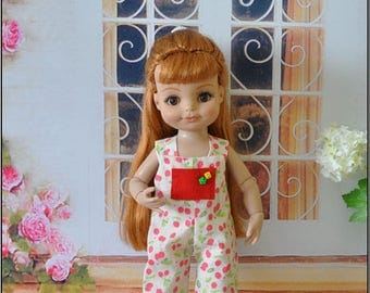 overalls cotton doll 10 inches