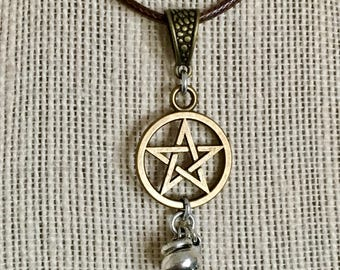 Kitchen witch, pentacle, necklace
