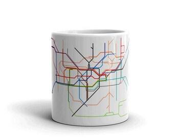 London Subway Lines Mug made in the USA