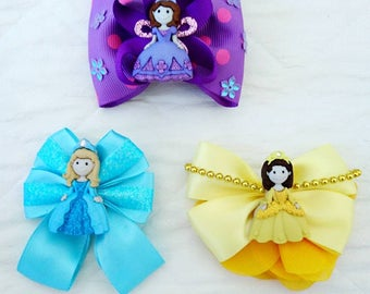 Princess Hair Clips Sets of 3