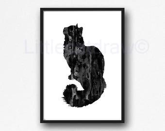 Cat Wall Art | Etsy