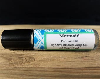 Mermaid Perfume Oil, Roll On Perfume, Women's Perfume, Perfume Oil, Gift for Her, Mermaid