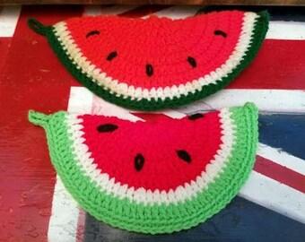 Vintage Watermelon Pot Holders