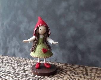 Valentines bendy doll