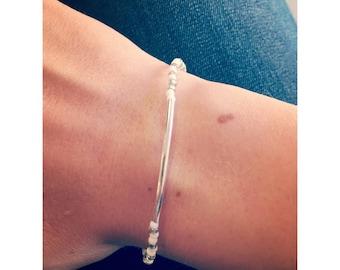 Pretty Bracelet silver pearls