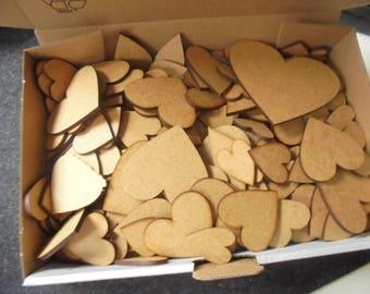 Heart, MDF, 1 box 24 x 15 x 5 cm
