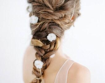 Wedding silk headband Athene