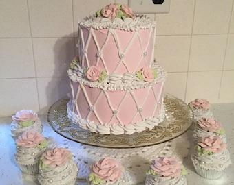 Diamond Cross Fake Cake
