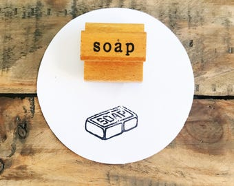 Vintage Soap Stamp / Wooden Soap Stamp / The Classroom Printer / Old Wood Stamp / Vintage Wood Stamp / Wood Handled Stamp / Farmhouse Decor