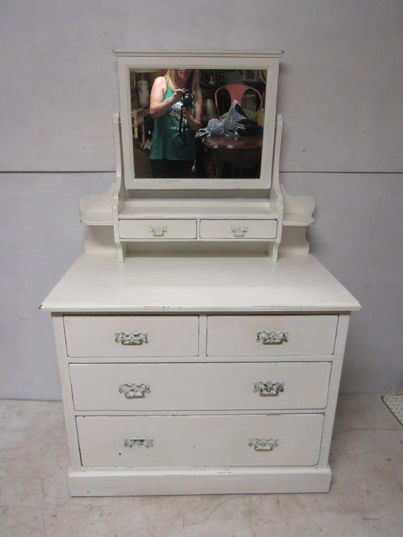 Shabby Chic white dresser with mirror