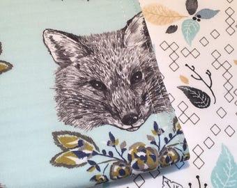 Burp Cloth ~ Geometric//Nature//Tribal//Native//Woodland//Fox//Foxy//Leaves//Vixen