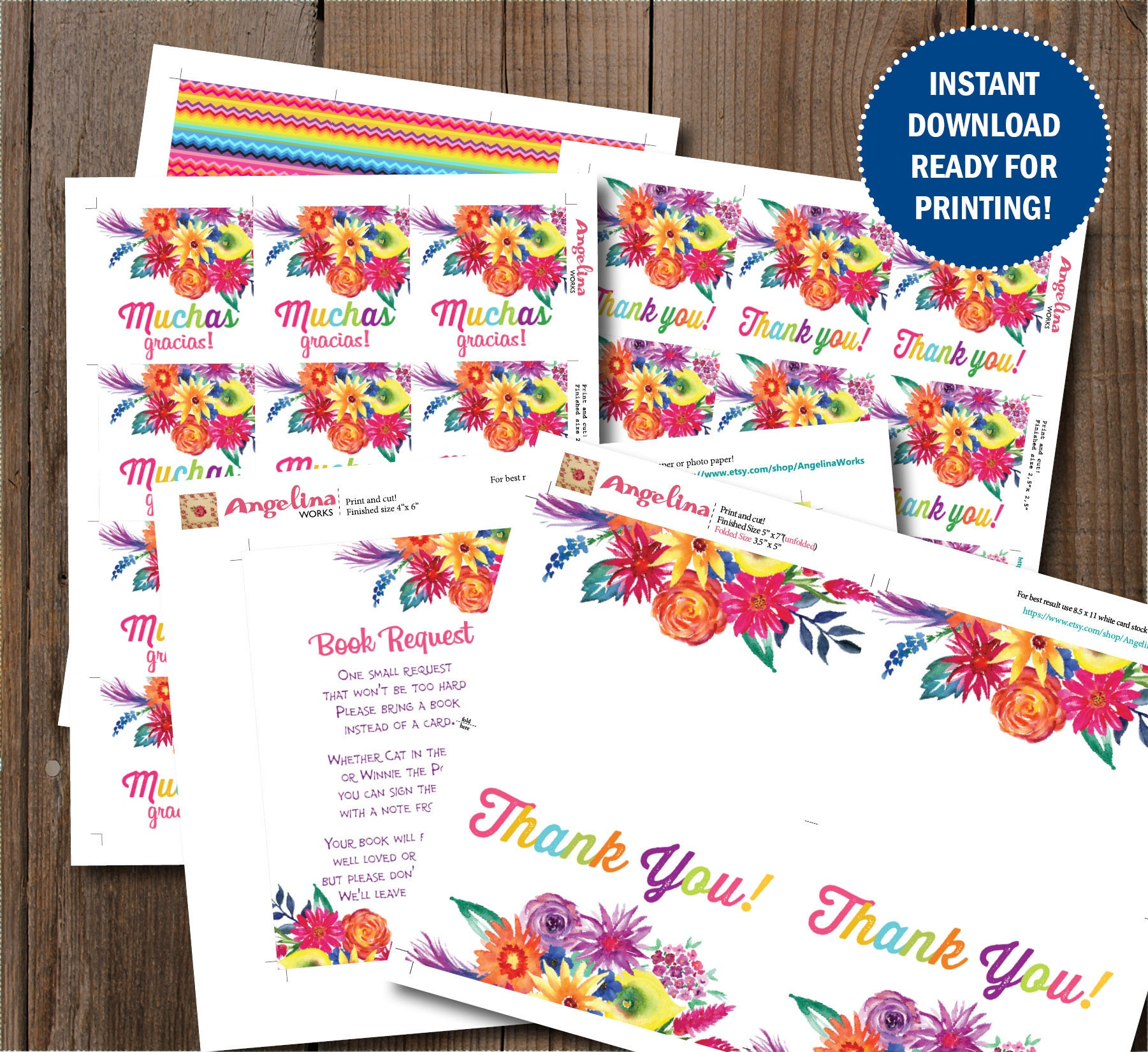 Fiesta Baby Shower Invitation Set. Mexican Fiesta . Watercolor ...