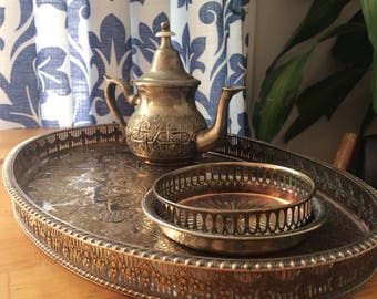 Scheffield vintage silver tray from england