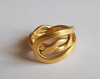 Golden braided ring