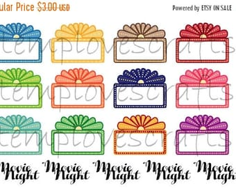 Weekend Sale Glam Movie Night Marquee Stickers For your planner or for Scrapbooking.