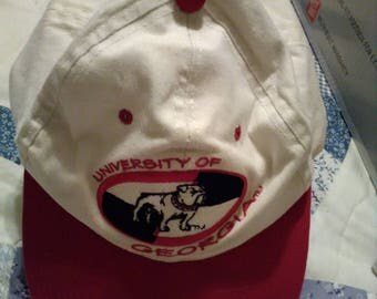 Vintage University of Georgia Bulldogs  baseball hat-cap.