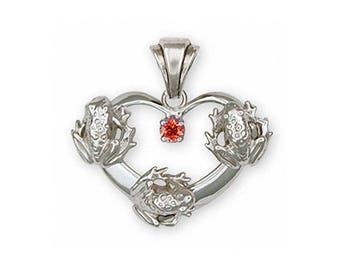 Frog Pendant Jewelry Sterling Silver Handmade Frog Pendant FG20-SP