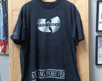 Vintage Wu-Tang Clan Shirt Wu-Tang Forever Promo Shirt Oversized Rap Tee Mountain Dew 1997 RZA GZA ODB Method Man Raekwon