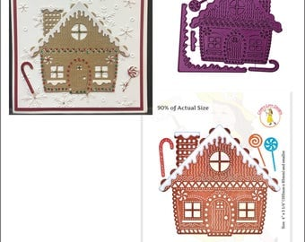 Christmas cutting dies - Gingerbread House Cheery Lynn metal Die B606 Cuttlebug & most machine compatibility - handmade cards and scrapbooks