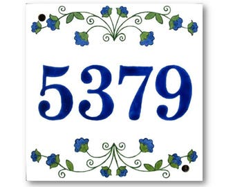 Custom house numbers sign, Address sign, House numbers plaque, Custom house number, Number plaque