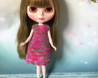 Dress, to fit Blythe Neo Dolls. Handmade, crocheted