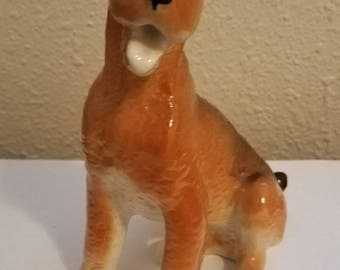 Vintage Russian Airdale Dog Figurine