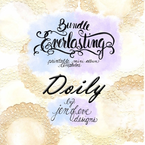 Everlasting & Mini Everlasting Printable Mini album Template Bundle in Doily and PLAIN